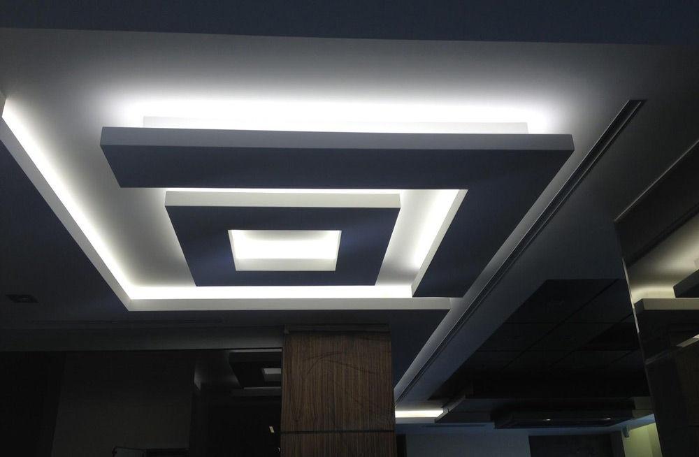 Светодиодная подсветка в нише гипсокартонного потолка