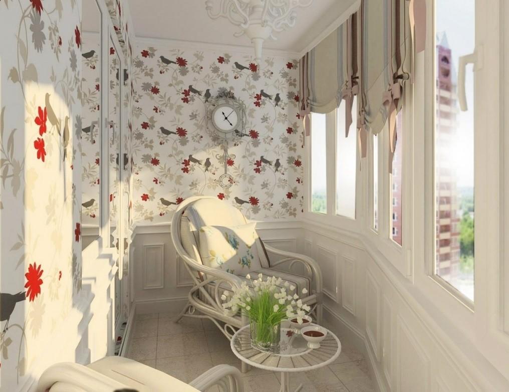 Оформление балкона при помощи обоев: стильные варианты отделки и советы по выбору материала
