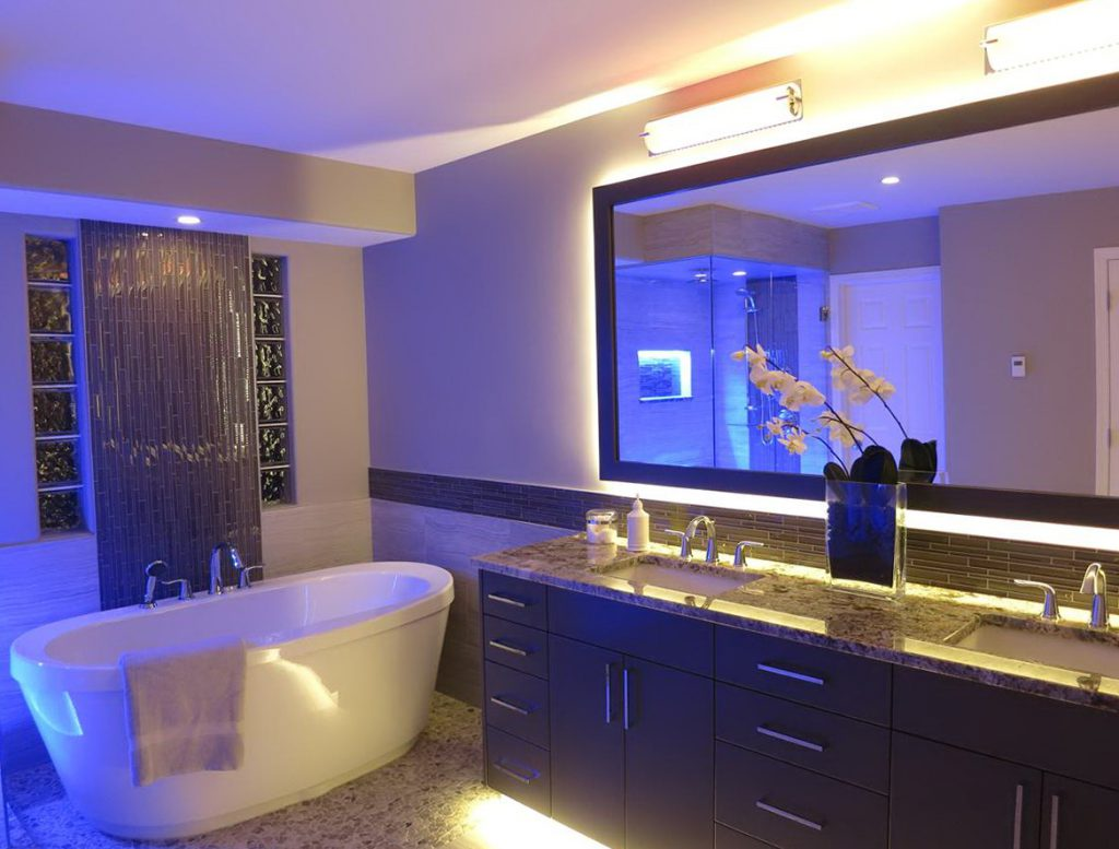 Лед подсветка в ванной комнате