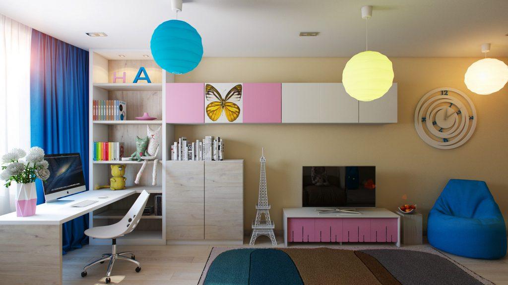 Вариант освещения в детской комнате