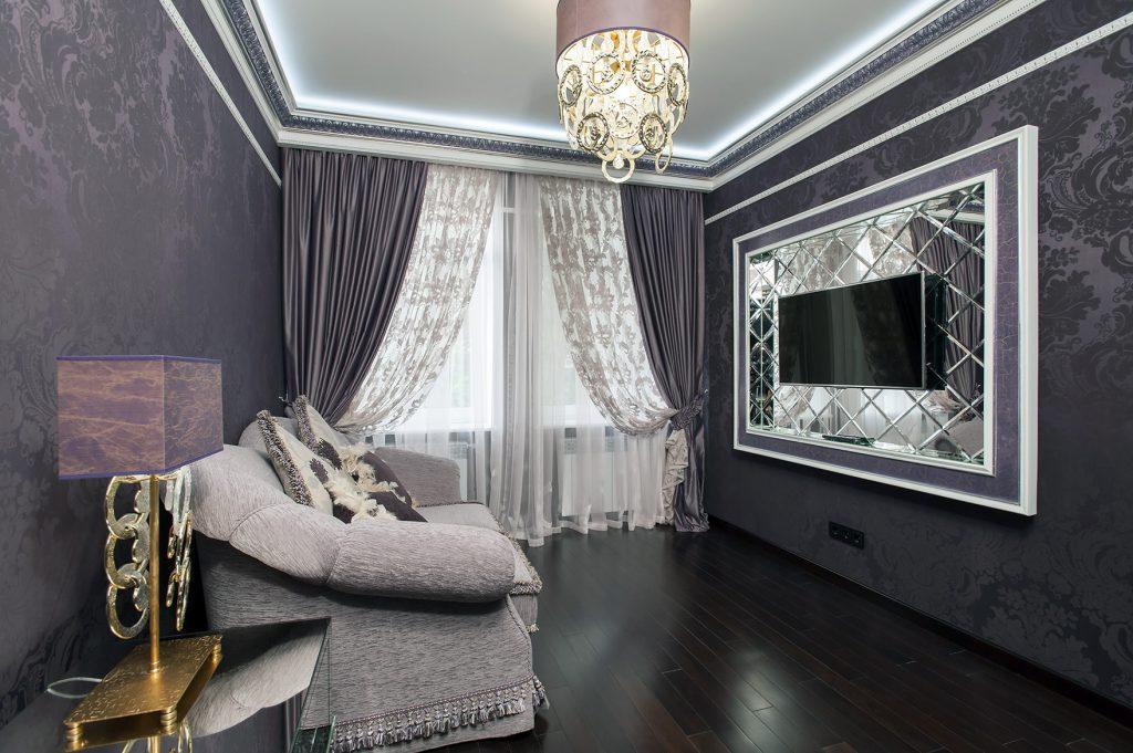 Использование темных обоев в интерьере разных комнат: варианты комбинирования и сочетания