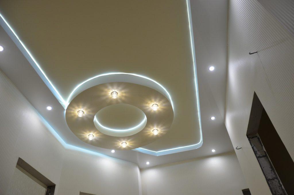 Необычная подсветка потолка