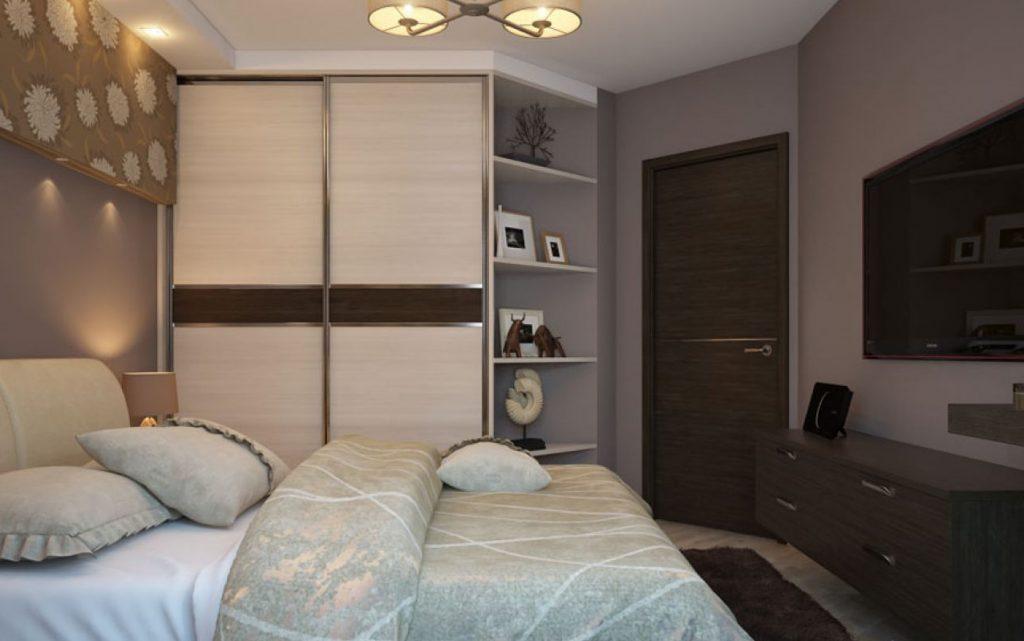 Встроенный шкаф-гардеробная в спальне