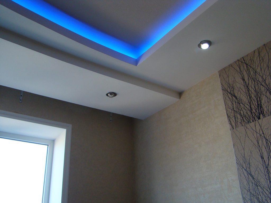 светодиодная подсветка многоярусного потолка