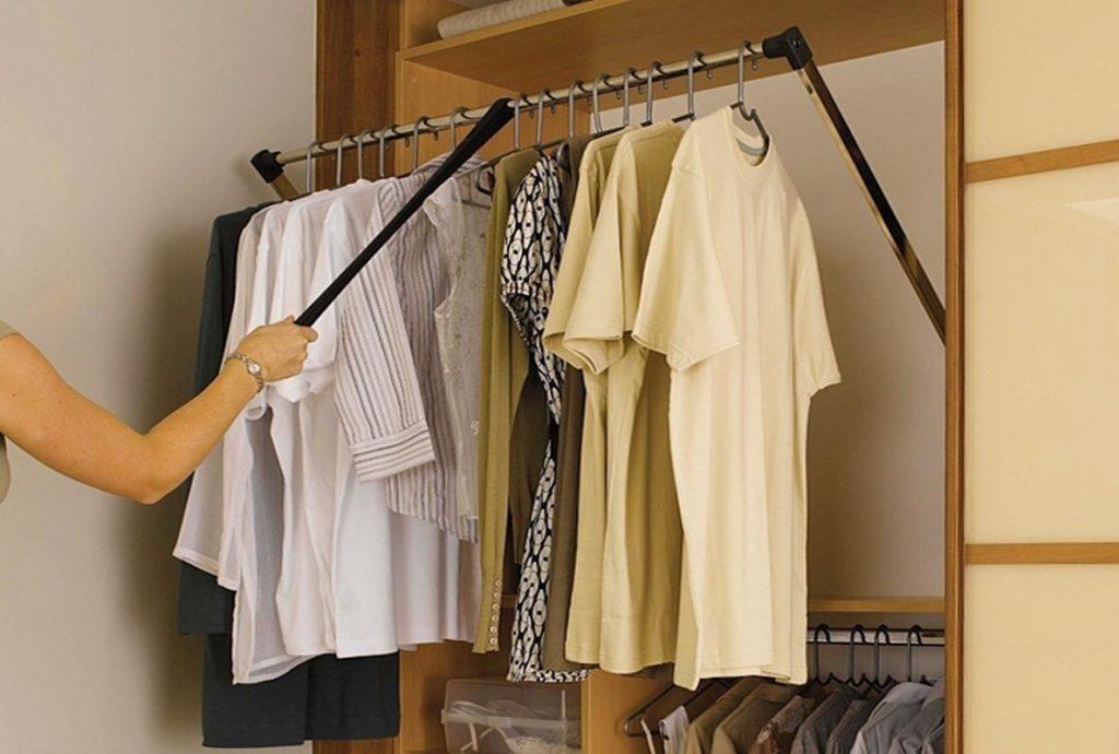 Система пантограф для гардеробной
