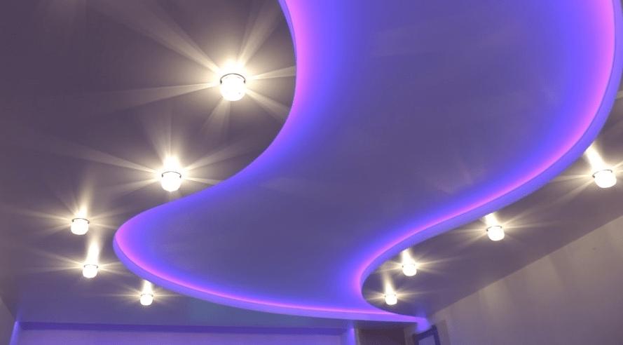 Виды освещения потолка и дизайнерские идеи для разных комнат   +80 фото