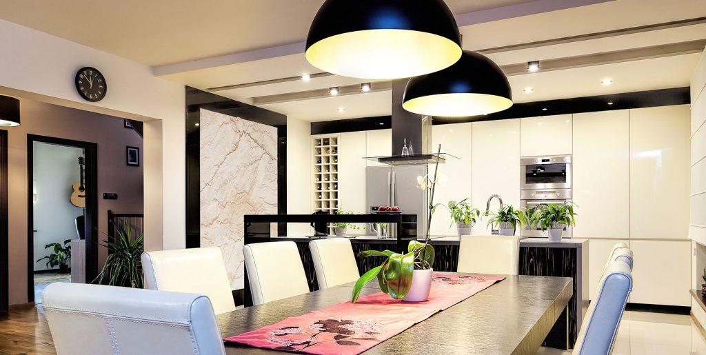Освещение в кухне-столовой