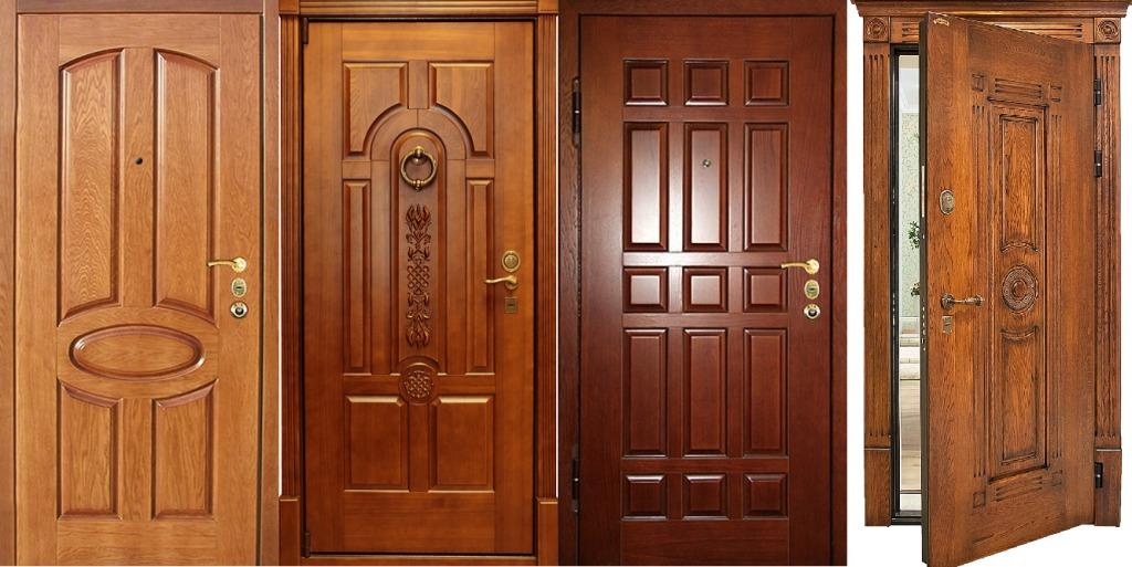 Входные двери из массива для частного дома