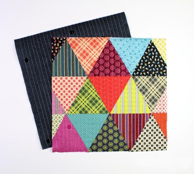 Подушка в стиле пэчворк из треугольников своими руками
