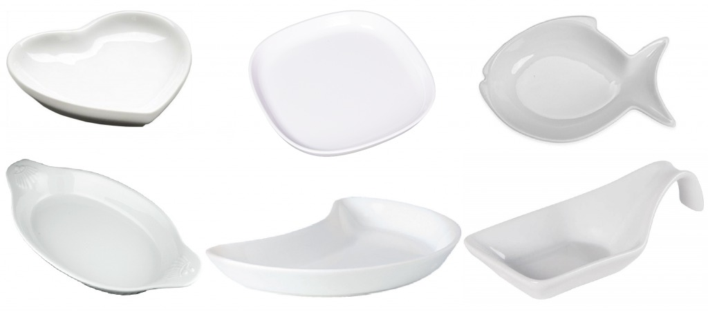 Тарелки разной формы