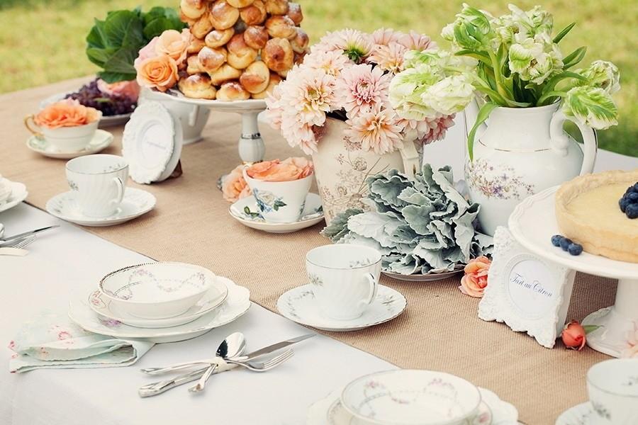 Как накрыть стол к чаю: правильная сервировка и праздничное оформление |+64 фото