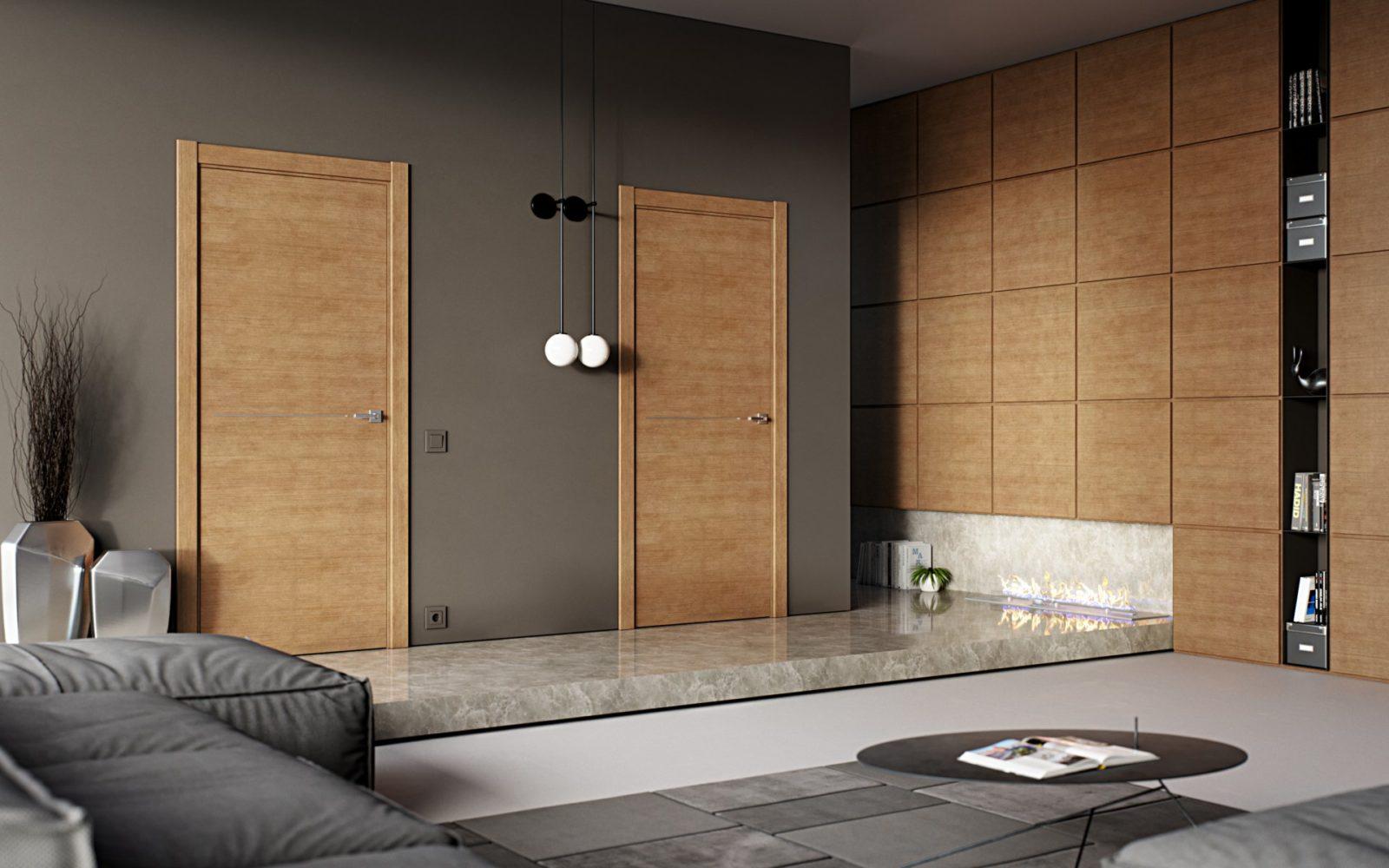 Дверь деревянная шпонированная