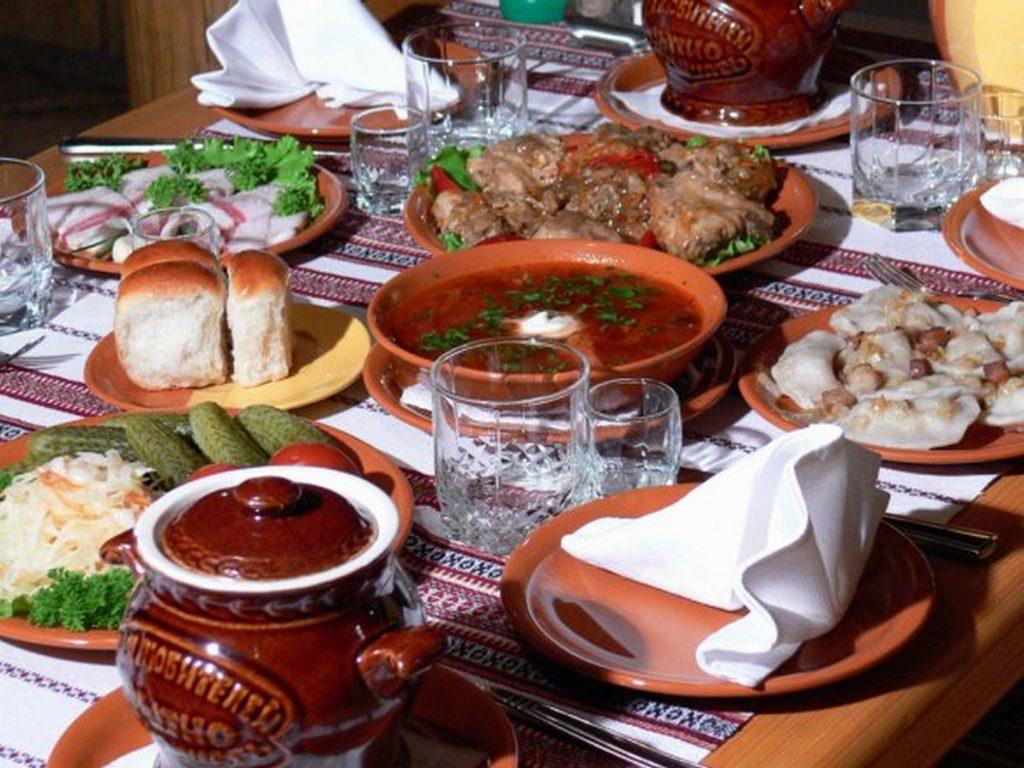 Сервировка стола в русском стиле