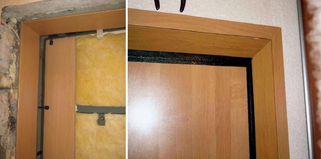 Отделка дверных откосов ДСП панелями