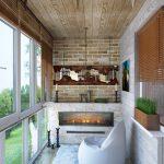 Варианты дизайна балконов из кирпича: способы отделки кирпичной кладки