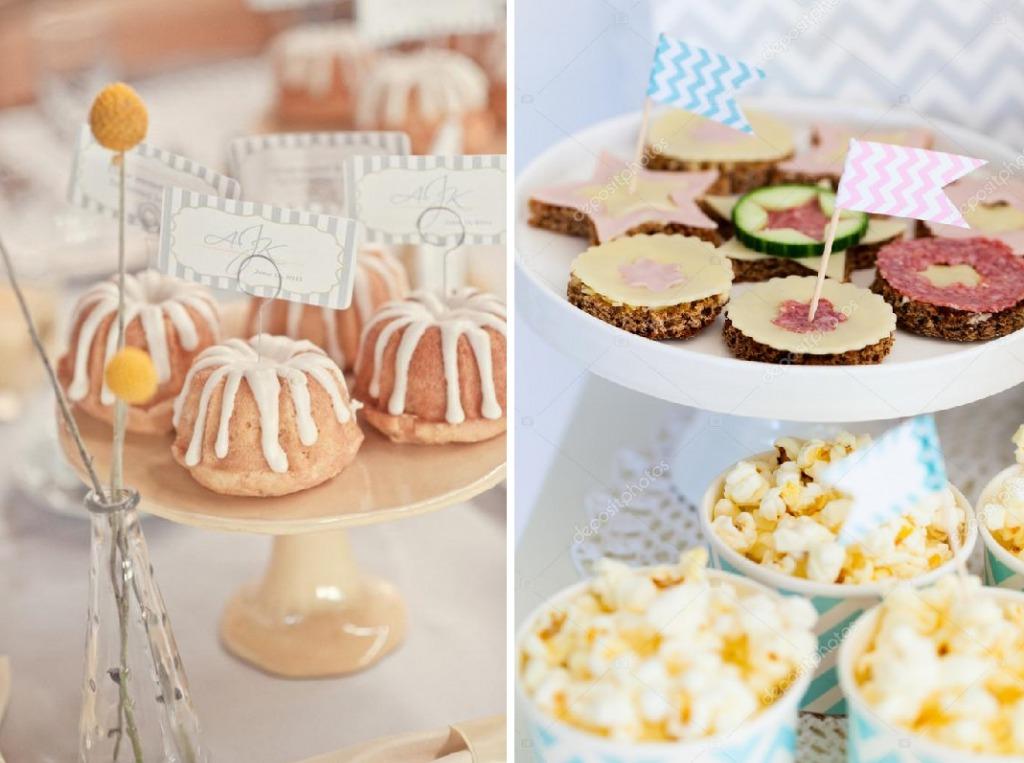 Декор десертов табличками и флажками
