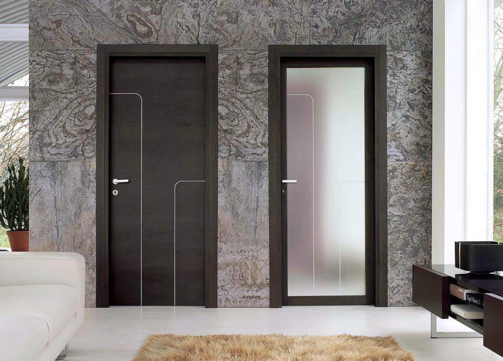 Двери венге с матовым стеклом