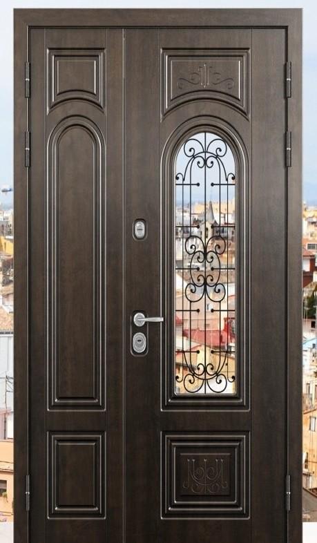 Полуторная входная дверь в частный дом