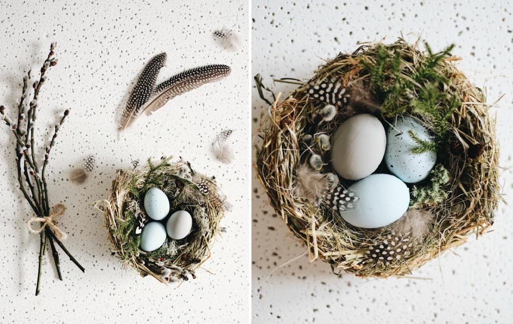 Гнездо из сена своими руками