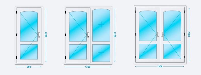 Типы входных дверей по размеру