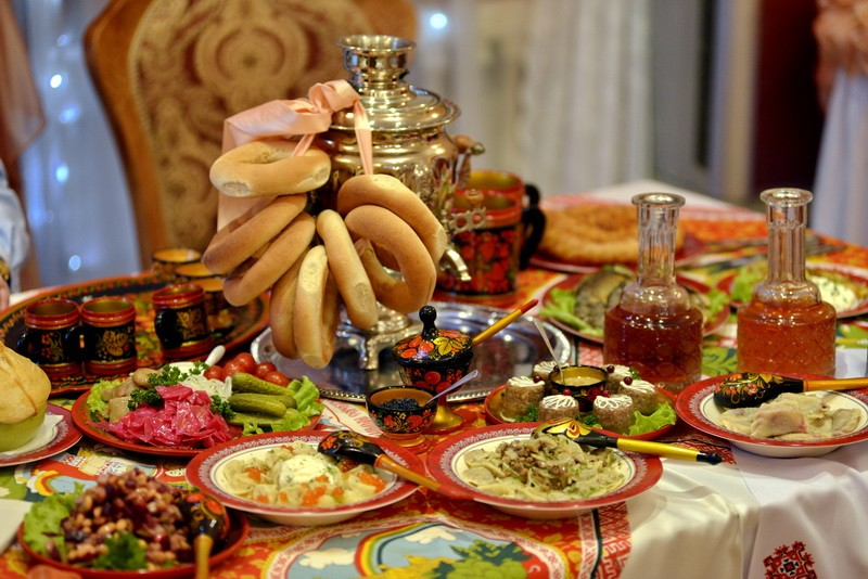 Сервировка стола в русском народном стиле
