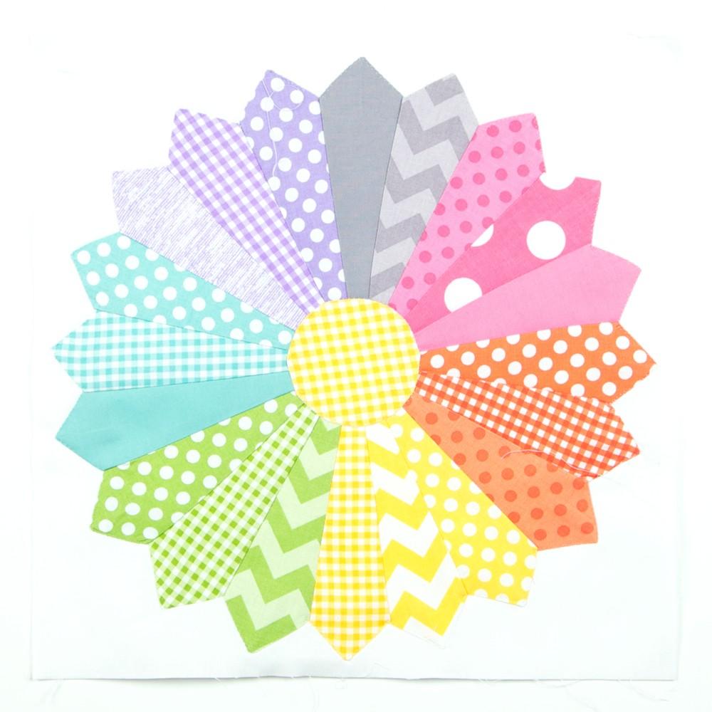 Схема пэчворк дрезденская тарелка