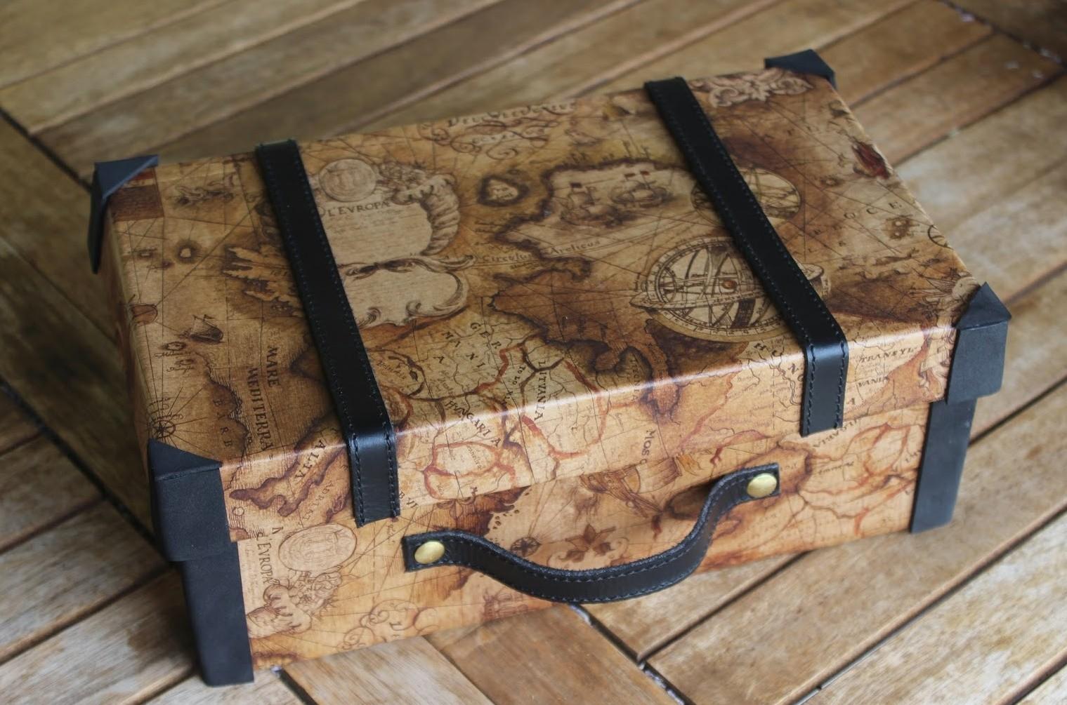 Декоративный чемодан – упаковка для подарка или креативная вещь своими руками |+58 фото