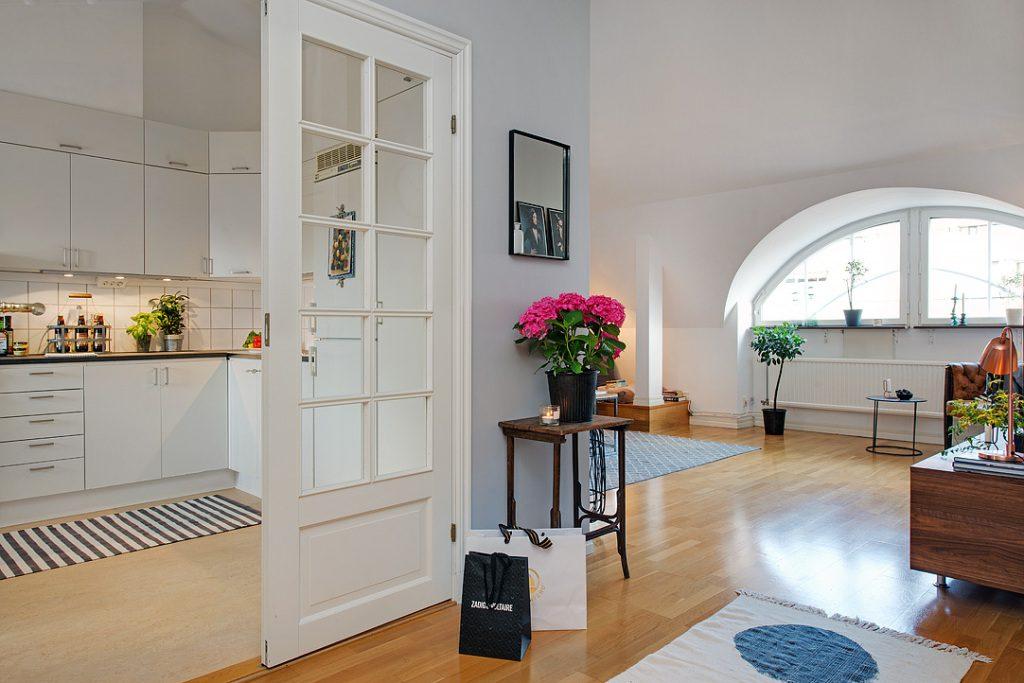 Двери в скандинавском стиле в интерьере