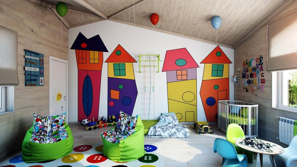 Выбор декора стен для детской комнаты: оптимальные варианты для разных возрастов