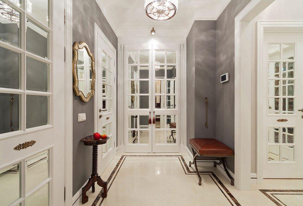 Белые двери в стиле прованс в интерьере