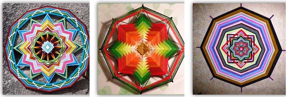Примеры плетения мандалы