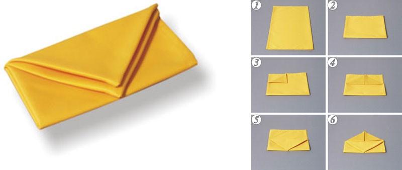 Как сложить салфетку сумочкой
