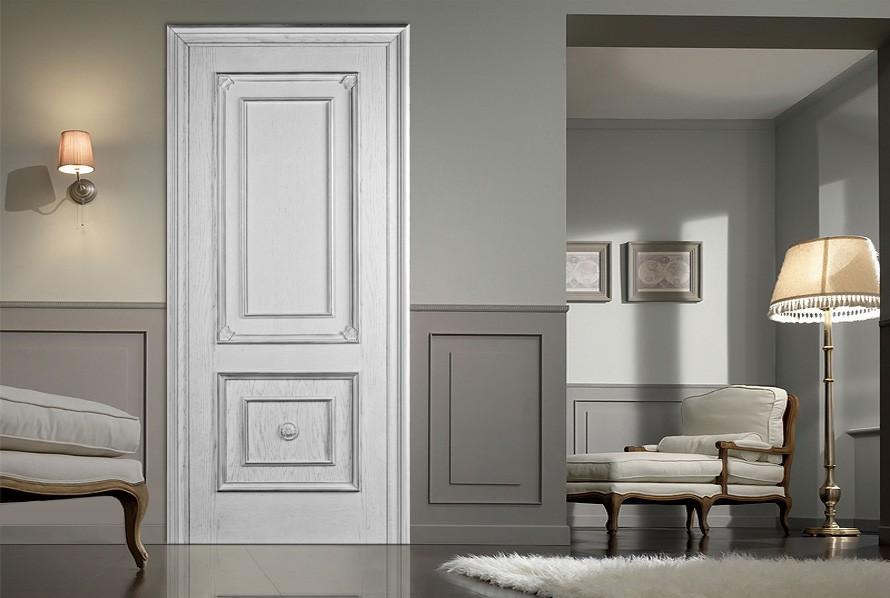 Белые двери в английском стиле интерьера