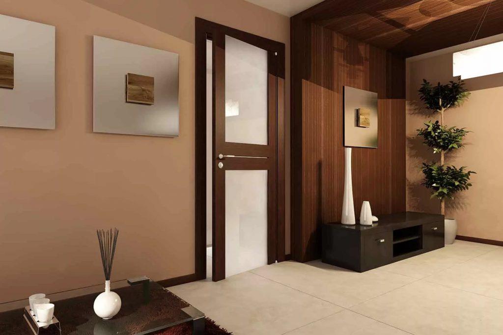 Двери цвета венге в интерьере