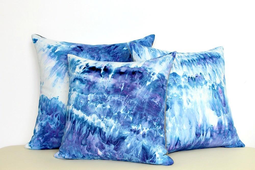 Декоративная подушка с покраской