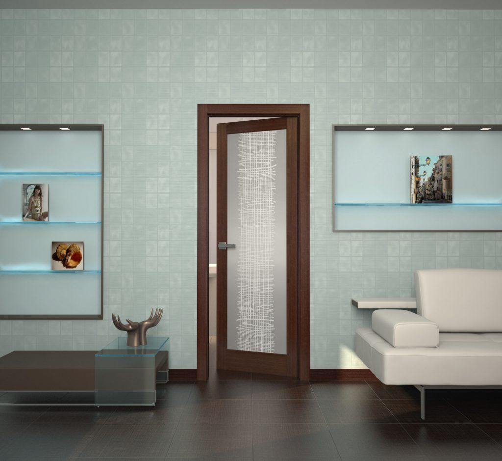 Двери венге и светлые обои