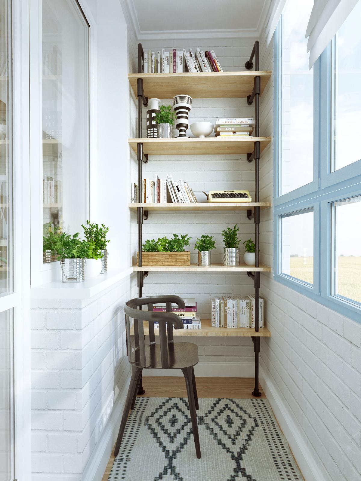 Как хранить вещи на балконе? [способы организации мест для хранения]