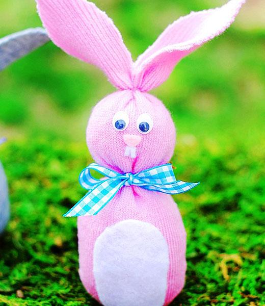 Как сделать красивого пасхального кролика для интерьера?