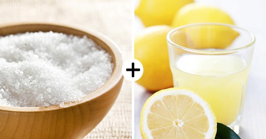 Морская соль и лимонный сок