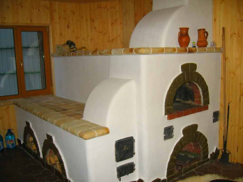 Виды отделки печи своими руками в частном доме
