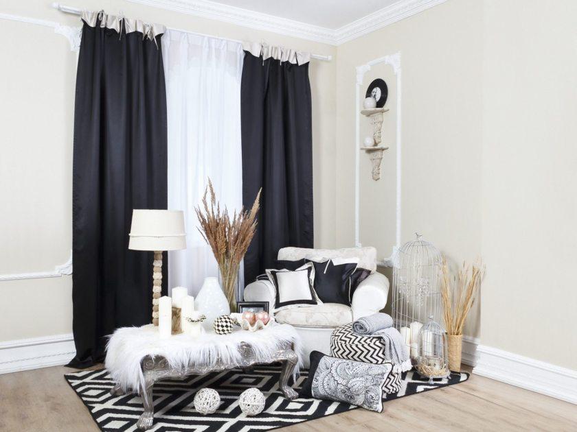 7 главных правил использования темных штор в интерьере