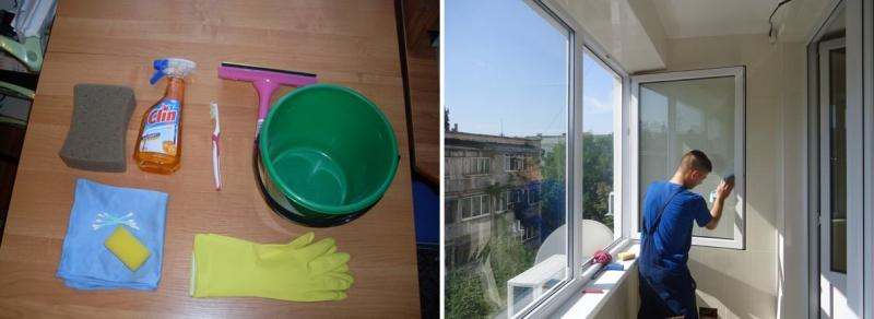 Как помыть окна на балконе снаружи: лучшие способы