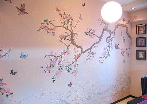 Рисунки на стенах в квартире: оригинальное оформление интерьера квартиры