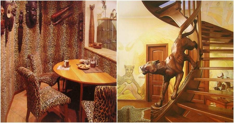 Квартира Валерия Леонтьева в Москве: принт леопард в интерьере