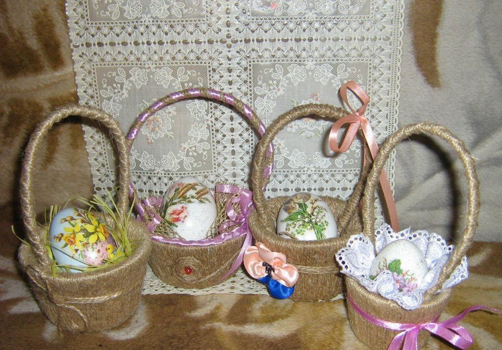 Пасхальные корзины в интерьере [изготовление и размещение]