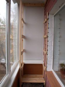 Как сделать стеллаж для балкона