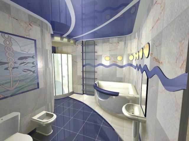 Дизайн плитки в ванной комнате: кабанчик, сакура