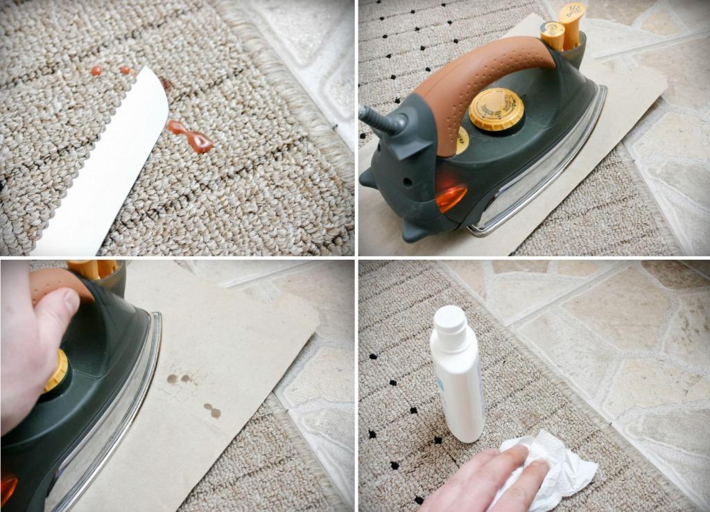 Как убрать пятна от воска с ковра