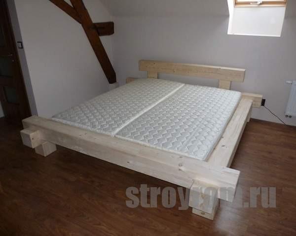 Как сделать кровать. Кровать из клееного бруса своими руками.