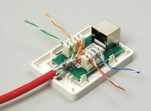 Подключение интернет розетки своими руками